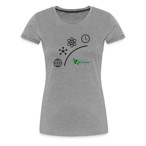 Matter Energy Space Time (Black) - Women's Premium T-Shirt