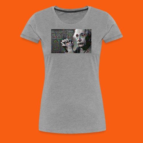 ES1 Einstein Quote - Women's Premium T-Shirt