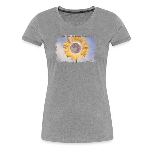 Total Sunflower Eclipse Design 2 - Women's Premium T-Shirt