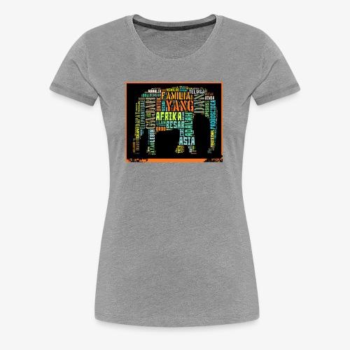 ELEPHANT TYPHOGRAFY - Women's Premium T-Shirt