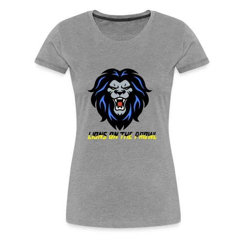 Lions On The Prowl` - Women's Premium T-Shirt