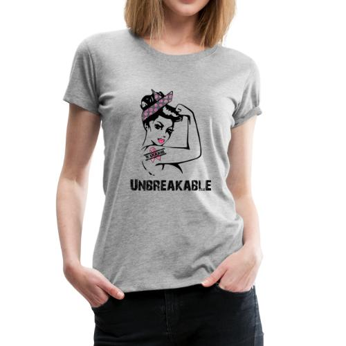 Breast Cancer Unbreakable Warrior - Women's Premium T-Shirt
