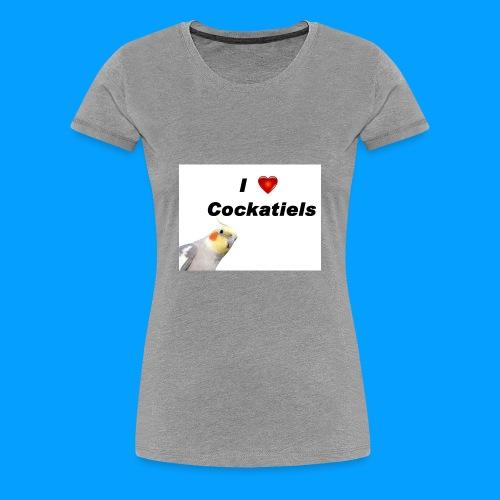 Cockatiels - Women's Premium T-Shirt