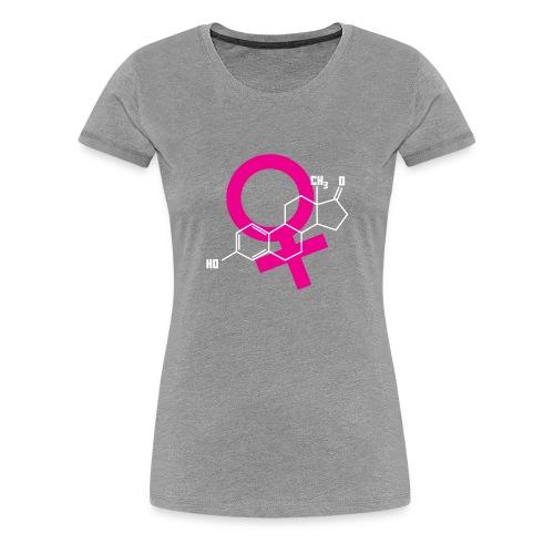 Estrogen Hormone Molecule Shirt for Feminists - Women's Premium T-Shirt