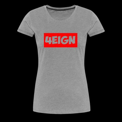 4eign Logo RED - Women's Premium T-Shirt