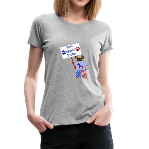 Protester Pug - Women's Premium T-Shirt