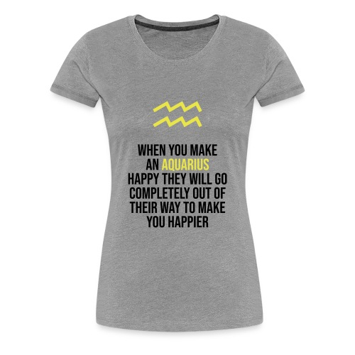 Zodiac. Aquarius. Horoscope. Birthday Gift - Women's Premium T-Shirt