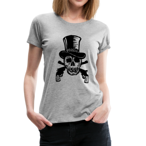 The Gunfighter Skull - Women's Premium T-Shirt