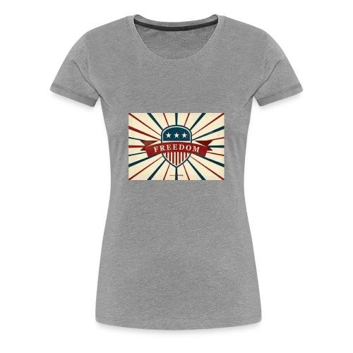 vector retro freedom illustration - Women's Premium T-Shirt