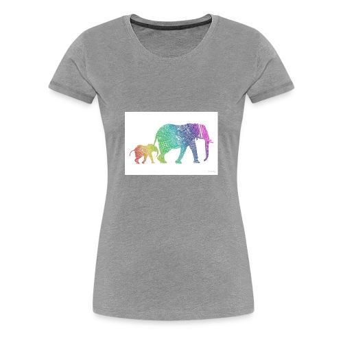 Zentangle Elephants - Women's Premium T-Shirt