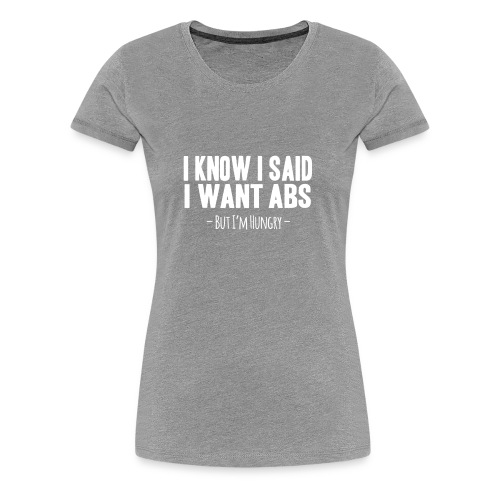 Funny Fitness - Women's Premium T-Shirt