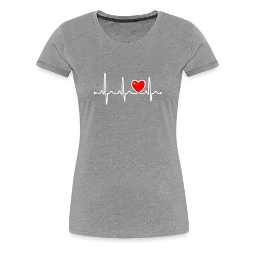 China Country Flag Heartbeat - Women's Premium T-Shirt