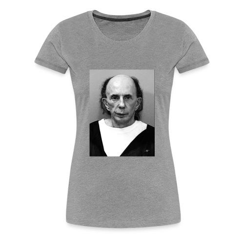 Phil SpectorMug Shot Vertical Black And White 2009 - Women's Premium T-Shirt