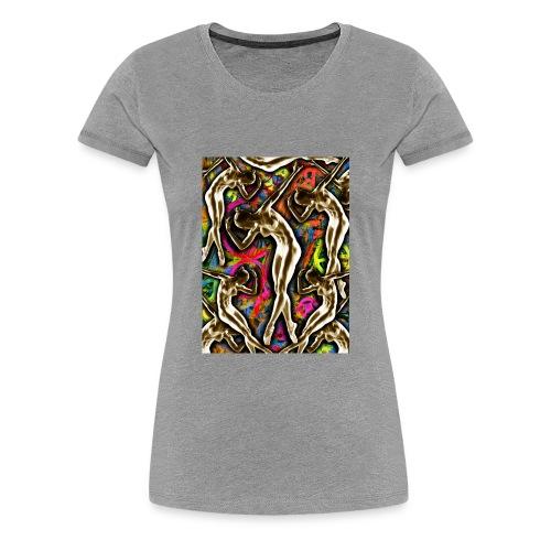 Woman In The Machine Frieze Color 1 - Women's Premium T-Shirt