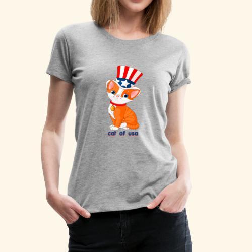 cat of usa - Women's Premium T-Shirt