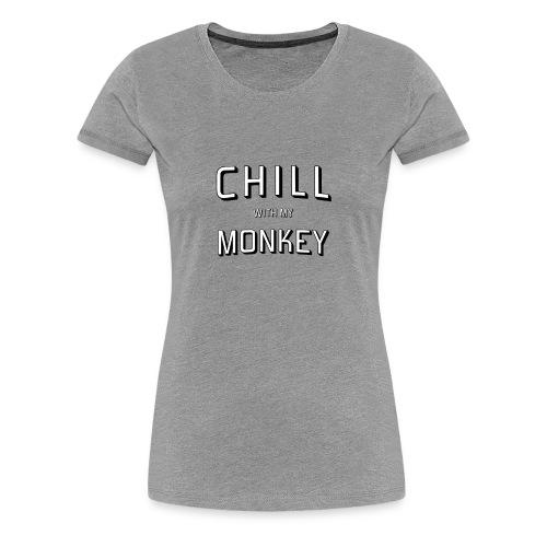 Monkey and Chill - Women's Premium T-Shirt