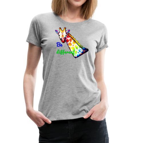 Colorful Giraffe Be Different - Women's Premium T-Shirt