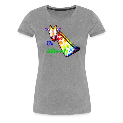 Colorful Giraffe Be Different - Women's Premium T-Shirt