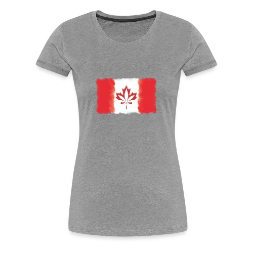 Canadian Flag - Cannabis Smoke Cloud - Women's Premium T-Shirt