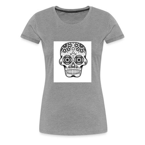 sugar skull black and white - Women's Premium T-Shirt