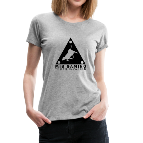 MIB LOGO: TRUTH INVASION TRIANGLE UFO - Women's Premium T-Shirt