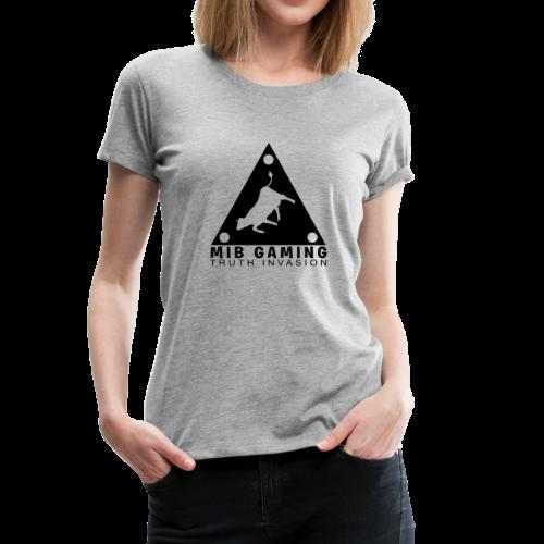 MIB LOGO: TRUTH INVASION TRIANGLE UFO - Women's Premium T-Shirt