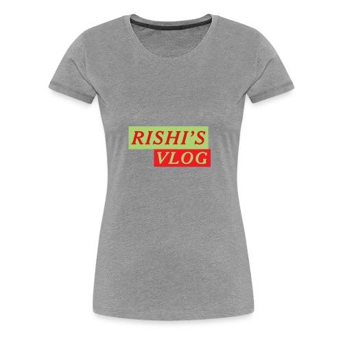 RISHI'S VLOG - Women's Premium T-Shirt