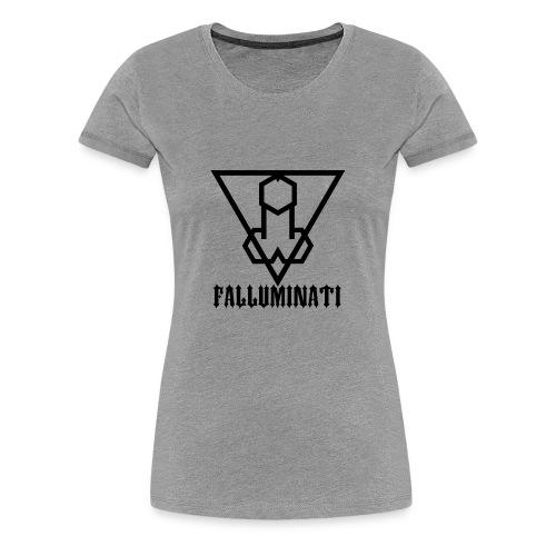 Falluminati on your phone by Umberto Lizard - Women's Premium T-Shirt