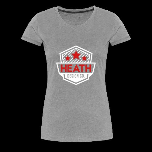 Red and White Logo - Women's Premium T-Shirt