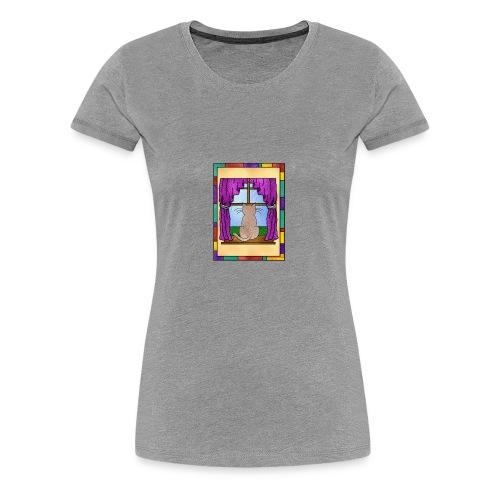 DayDreaming Cat - Women's Premium T-Shirt