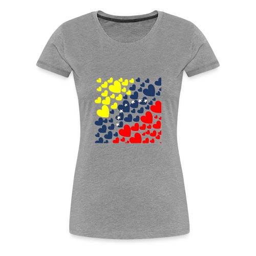 Venezuela´s Flag in heart - Women's Premium T-Shirt