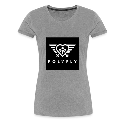 PolyFly Official Logo Wht - Women's Premium T-Shirt