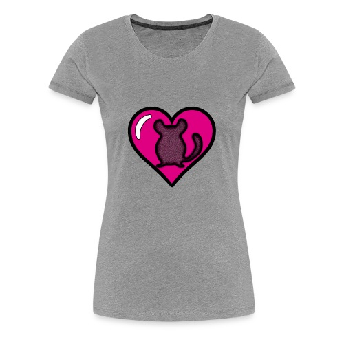 Pink Chinchilla Heart - Women's Premium T-Shirt