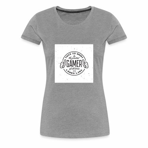Greatest Gamer white - Women's Premium T-Shirt