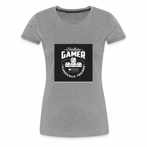 Hardcore Gamer Black - Women's Premium T-Shirt