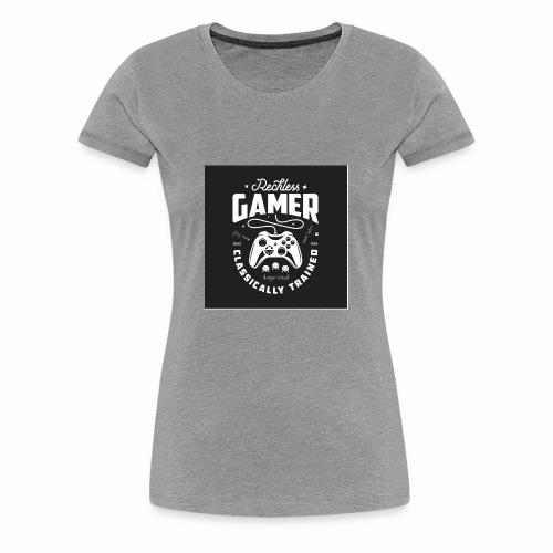 Reckless Gamer Black - Women's Premium T-Shirt