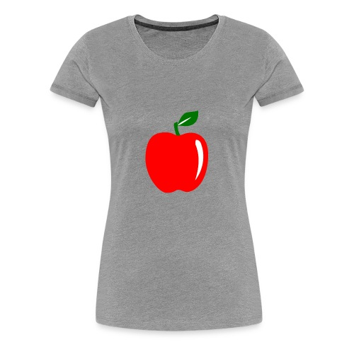 Teacher Apple Minimalist - Women's Premium T-Shirt