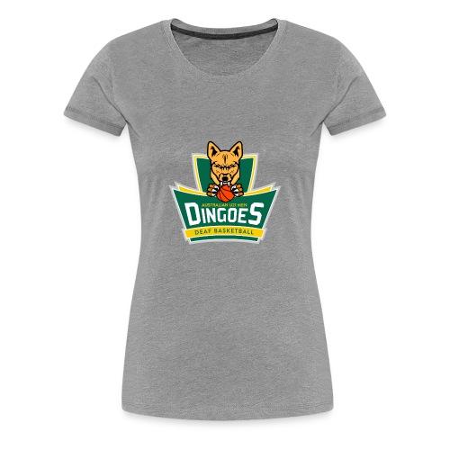 Australian U21 Men Dingoes - Deaf Basketball - Women's Premium T-Shirt