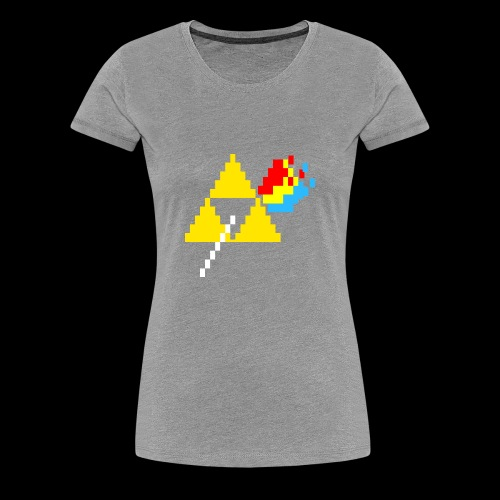 the dark side of the Triforce pixel - Women's Premium T-Shirt