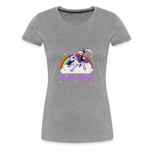 Unicorn death Metal rainbow - Women's Premium T-Shirt