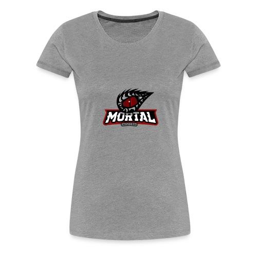 Mortal Esports Full Logo Design (Black) - Women's Premium T-Shirt