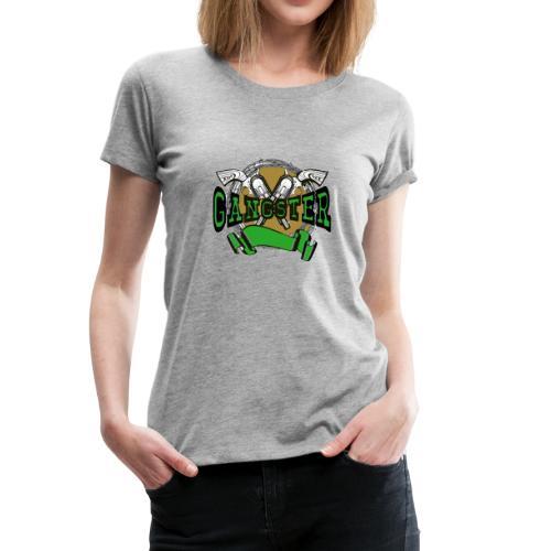 ganster gangster shirt 2 pistols - Women's Premium T-Shirt