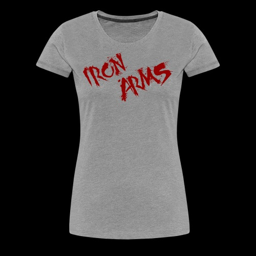 The Iron Arms Blood Splatter Logo - Women's Premium T-Shirt