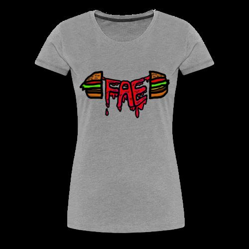 Fae logo - Burger - Women's Premium T-Shirt