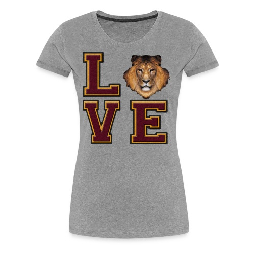 Lion Love Maroon Box - Women's Premium T-Shirt