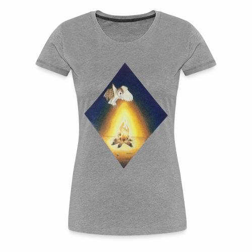 Owl by Firelight - Women's Premium T-Shirt