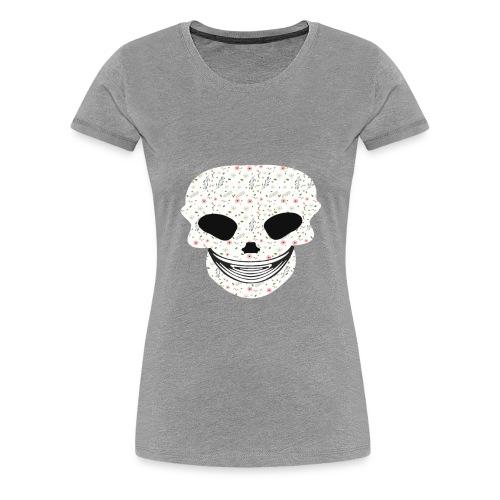Skull Flowers Cute Death - Women's Premium T-Shirt