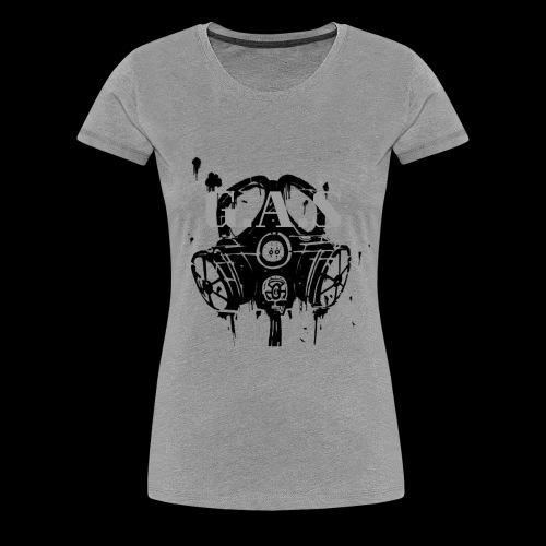 Big Black Gas Mask - Women's Premium T-Shirt