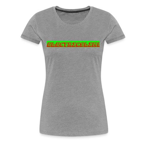 ElectricSlime Text - Women's Premium T-Shirt