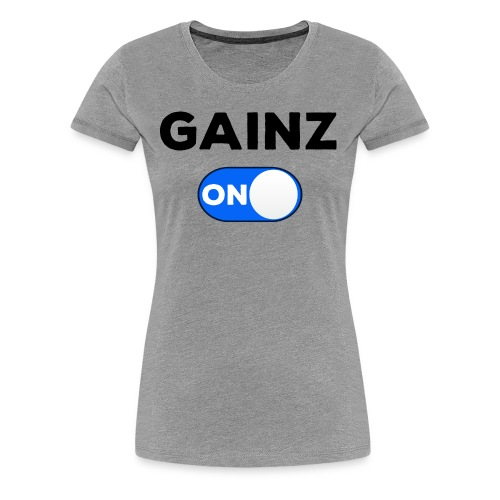gainz blue - Women's Premium T-Shirt
